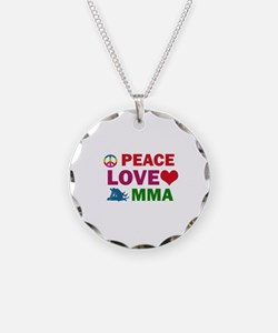 Peace Love MMA Designs Necklace
