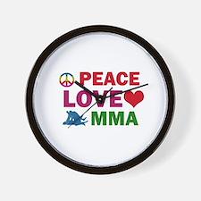 Peace Love MMA Designs Wall Clock