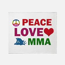 Peace Love MMA Designs Throw Blanket