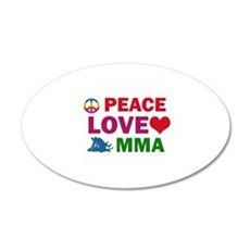 Peace Love MMA Designs Wall Decal
