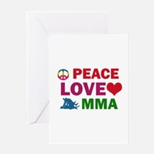 Peace Love MMA Designs Greeting Card