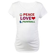 Peace Love Paintball Designs Shirt