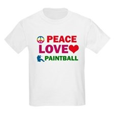 Peace Love Paintball Designs T-Shirt