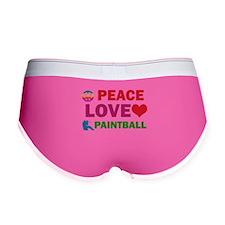Peace Love Paintball Designs Women's Boy Brief