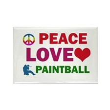 Peace Love Paintball Designs Rectangle Magnet