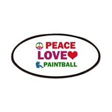 Peace Love Paintball Designs Patches
