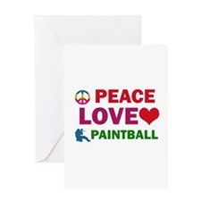 Peace Love Paintball Designs Greeting Card
