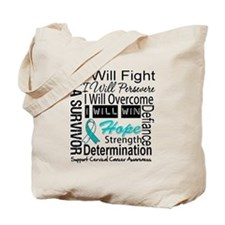 Cervical Cancer Persevere Tote Bag