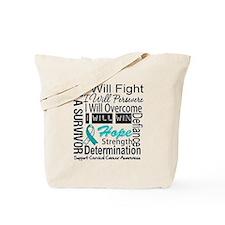 Cervical Cancer Persevere Tote Bag