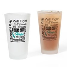 Cervical Cancer Persevere Drinking Glass