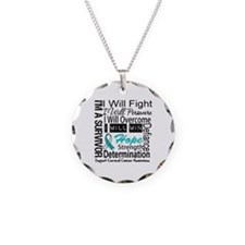 Cervical Cancer Persevere Necklace Circle Charm