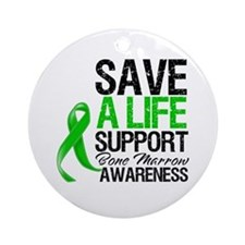 Bone Marrow Save a Life Ornament (Round)