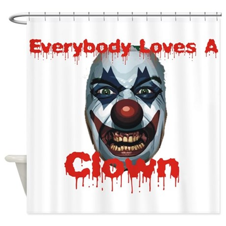 Love a Clown Shower Curtain