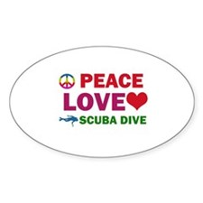 Peace Love Scuba Dive Designs Decal
