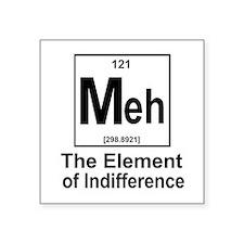 "Element Meh Square Sticker 3"" x 3"""