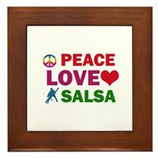 Peace Love Salsa Designs Framed Tile