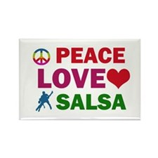 Peace Love Salsa Designs Rectangle Magnet