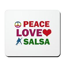 Peace Love Salsa Designs Mousepad