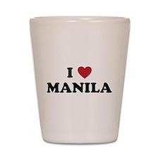 I Love Manila Shot Glass
