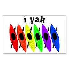 kayak rainbow i yak.PNG Decal