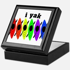 kayak rainbow i yak.PNG Keepsake Box