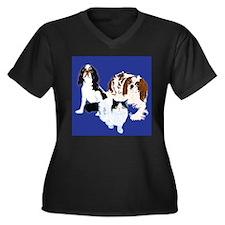pets Women's Plus Size V-Neck Dark T-Shirt