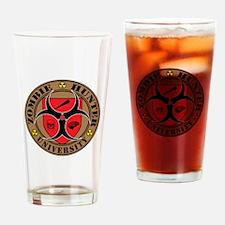 Zombie Hunter University Drinking Glass