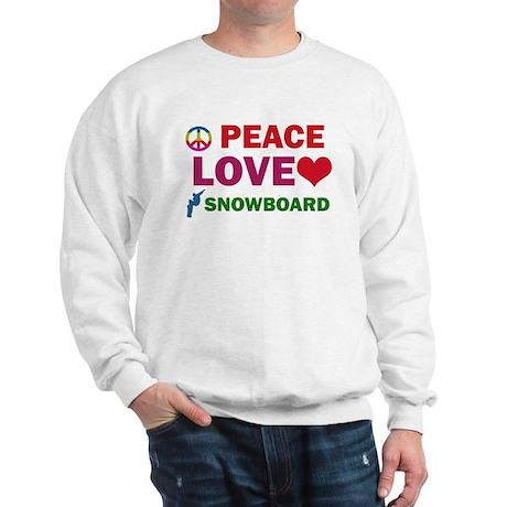 Peace Love Snowboard Designs Sweatshirt