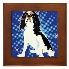 Toy Spaniel original art Framed Tile