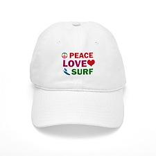 Peace Love Surf Designs Baseball Baseball Cap