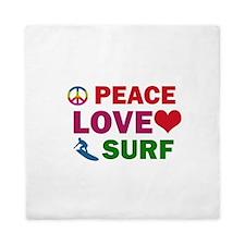 Peace Love Surf Designs Queen Duvet