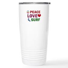 Peace Love Surf Designs Travel Mug
