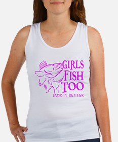 GIRLS FISH TOO WALLEYE Women's Tank Top