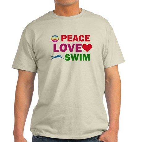Peace Love Swim Designs Light T-Shirt