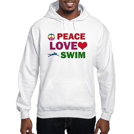 Peace Love Swim Designs Hooded Sweatshirt
