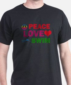 Peace Love Swim Designs T-Shirt