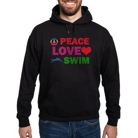 Peace Love Swim Designs Hoodie (dark)
