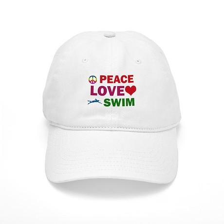 Peace Love Swim Designs Cap