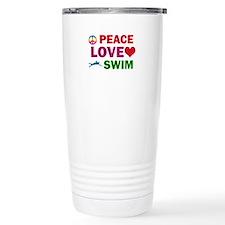 Peace Love Swim Designs Travel Mug