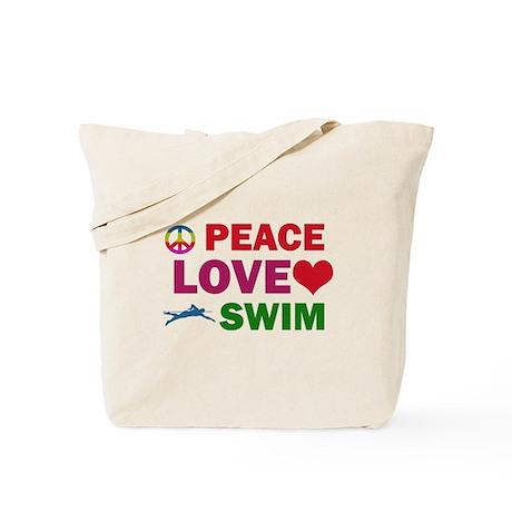 Peace Love Swim Designs Tote Bag