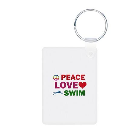 Peace Love Swim Designs Aluminum Photo Keychain