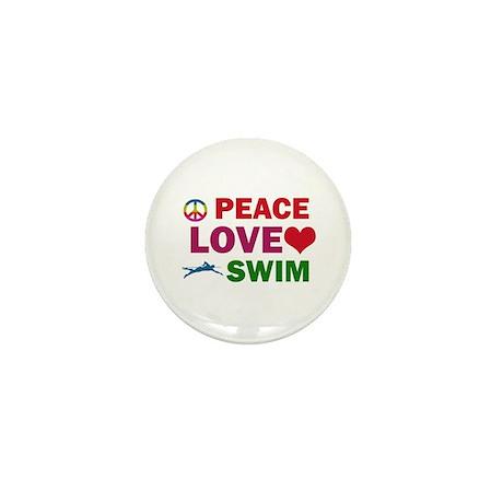 Peace Love Swim Designs Mini Button (100 pack)