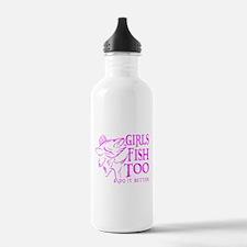 GIRLS FISH TOO WALLEYE Water Bottle