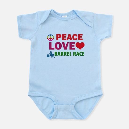 Peace Love Barrel Race Designs Infant Bodysuit