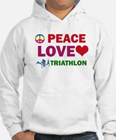 Peace Love Triathlon Designs Hoodie