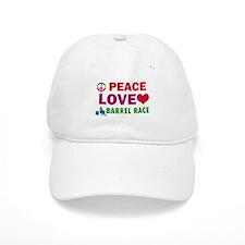 Peace Love Barrel Race Designs Baseball Baseball Cap