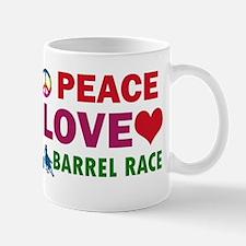 Peace Love Barrel Race Designs Mug