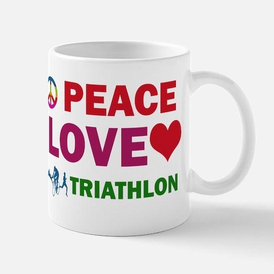 Peace Love Triathlon Designs Mug