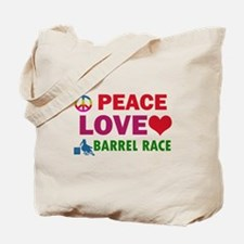 Peace Love Barrel Race Designs Tote Bag