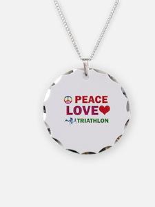 Peace Love Triathlon Designs Necklace